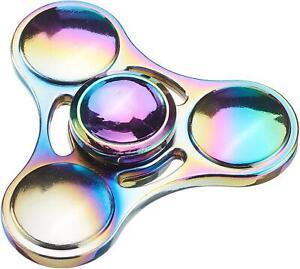 Rainbow Aluminium Metal Fidget Spinner Stress Free Hand Spin Finger Toy + Wallet