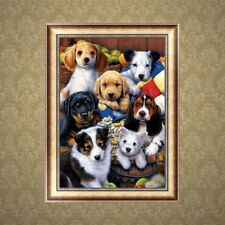 Wall 5D DIY Diamond Painting Dogs Animal Cross Stitch Home Decor Crafts Kits MA