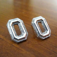 OHIO STATE UNIVERSITY SILVER O Logo CHARM POST STUD EARRINGS Buckeyes jewelry