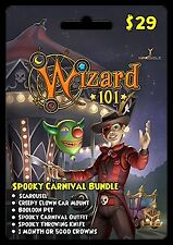 Wizard 101 Spooky Carnival Bundle Prepaid Game Card FAST DELIVERY