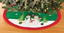 Adorable, Quality SNOWMAN CHRISTMAS TREE SKIRT, NEW!