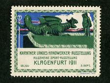 Vintage Poster Stamp Label KLAGENFURT 1911 Handwerker Ausstellung Craft dragon