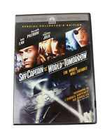 Sky Captain and the World of Tomorrow Movie DVD Full Screen Jude Law 2004 WORKS