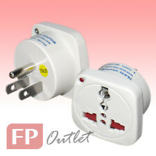 US 3-Flat pin Type-B Universal Multiple AC LED Travel Power Adapter Converter