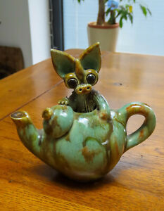 Yare Design Pottery Dragon in a Teapot....* See description *