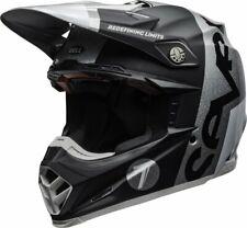 CASCO HELMET CROSS MOTO-9 CARBON FLEX SEVEN GALAXY M/G BLACK SILVER BELL SIZE S
