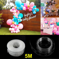 5M Balloon Decorate Strip Arch Garland Connect Chain DIY Tape Party Bar Decor Y1