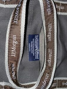 "JPMorgan JP Morgan Chase JPM - 17"" Original Duffel Trader Banker Bag - Gray NEW"