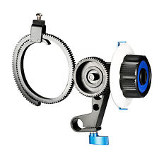 Neewer Follow Focus with Single 15mm Rod Clamp, Gear Ring Belt for DSLR Cameras