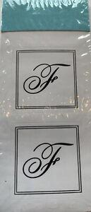 "F Seal Monogram Initial Sticker Cursive Gartner Studios 1"" 30 count"