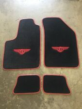 BENTLEY CONTINENTAL GT COUPE CUSTOM CAR FLOOR MATS 04-16 BLACK W/ RED WINGS