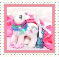 ❤️My Little Pony MLP G1 VTG 1990 BABY Rainbow Ponies Starbow Star Bow White❤️