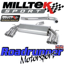 "Milltek Audi S3 8v 3-Door RACE Exhaust 3"" NON VALVE Non Res Titanium GT SSXAU524"