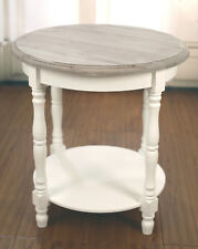 Lamp Table French Provincial Side Table Antique Grey Hamptons Timber Top New