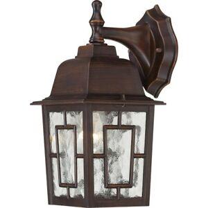 Nuvo 1 Light Exterior Wall Lantern in Rustic Bronze 60-4922
