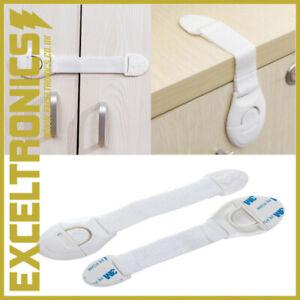 2 x BABY SAFETY CUPBOARD DRAWER DOOR LOCK CLIP KID/BABY/CHILD PROOF FRIDGE LOCKS