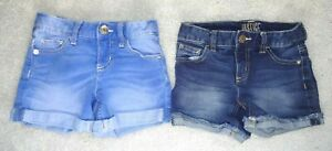 Lot of 2 Jean Shorts Girls' 8 Justice Cuffed EUC