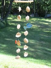 Unique Wind Chimes Seashells & Fish Stained Glass Mobile Handmade Christmas?