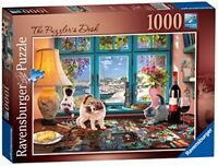 Ravensburger The Puzzlers Desk 1000 piece Jigsaw Puzzle Cat Kittens Cute Animals