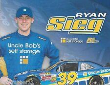 2015 RYAN SIEG UNCLE BOB'S SMALL VERSION 4X6 #39 NASCAR XFINITY POSTCARD