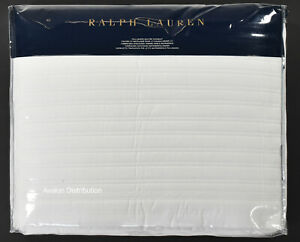Polo Ralph Lauren Home White Reed Full Queen Quilted Coverlet New $355
