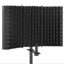 3 Folded Microphone Acoustic Isolation Shield Alloy Acoustic Foams Panel NEW
