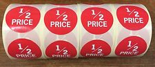 1,000 1/2 Price Retail Labels (Stickers)  50mm diameter SPECIAL OFFER!
