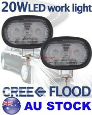 "2X 4"" Cree LED 20W Flood Work Light Lamp Off road Vehicle Driving Boat Jeep Bike"