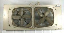 """Vintage Marvin Portable Metal Twin 8"""" Window Fan Model 282 USA"""