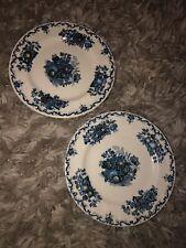 "Pair Mason's FRUIT BASKET BLUE  5 7/8"" Bread & Butter Plates"