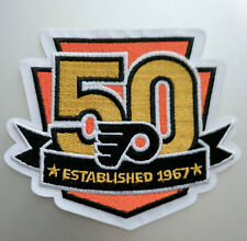 """Philadelphia Flyers 50 Year Iron On Patch 4"""" Free Shipping by Envelope Mail"""