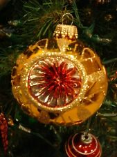 Christmas by KREBS 4 BOXES, mint condition Old Fashioned Glass INDENT ORNAMENTS!