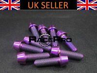 4x Titanium  Tapered Socket Bolt Allen RacePro M5 x 20mm x 0.8mm Purple