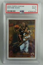 2003-04 Topps Chrome #115 Dwyane Wade RC Rookie Card PSA 9 MINT