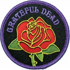 The Grateful Dead Rose with Logo Embroidered Iron On Patch rock
