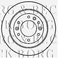 REAR  BRAKE DISCS PAIR FOR KIA GENUINE OE BORG & BECK  BBD4658