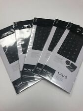 Lot of 5 Sony Vaio Keyboard Skin/Cover OEM For VAIO Fit 14/Fit 14E Black