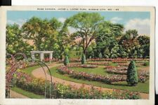 rose garden,jacob l loob park, kansas city mo postcard