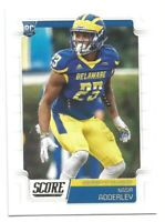2019 Panini Score Nasir Adderley Rookie Card RC #434 DELAWARE / CHARGERS