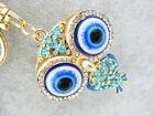 Owl Keychain Rhinestone Crystal Keyring Key Ring Chain Bag Charm Pendant Gift