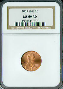 2005 LINCOLN CENT NGC MS 69 RED SMS FINEST REGISTRY MAC SPOTLESS.