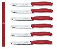 Victorinox Swiss Classic Pomodoro & Salsiccia Coltello Confezione da 6 (rosso)
