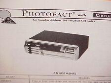 1975 BOMAN ASTROSONIX 8-TRACK TAPE PLAYER/FM MPX RADIO SERVICE MANUAL CT-2200