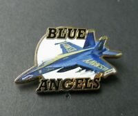 BLUE ANGELS F-18 HORNET LAPEL HAT PIN NAVY USN BADGE 1.5 INCHES PRINTED DESIGN