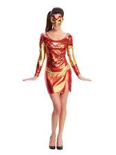 Adult Miss Iron Man Fancy Dress Costume Superhero Avengers Pepper Pots Ladies BN