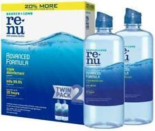 ReNu Advanced Formula Triple Disinfectant Bausch + Lomb Twin Pack 2 x 12oz