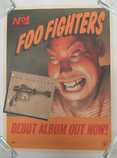 Foo Fighters s/t 1995 Roswell Records Promo Only Poster Fave Grohl Nirvana Vg+