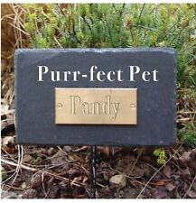 Greenkey Garden and Home Ltd Natural Slate Pet Purr-Fect Pet Rectangular Memo...