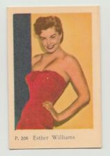 1958 VINTAGE DUTCH GUM P SET ESTHER WILLIAMS CARD #208 EX-MT CONDITION
