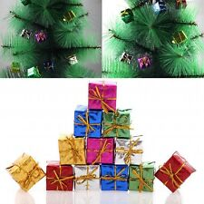 Mini 12 Christmas Gift Box Set Hanging Christmas Tree Ornament Party Decoration